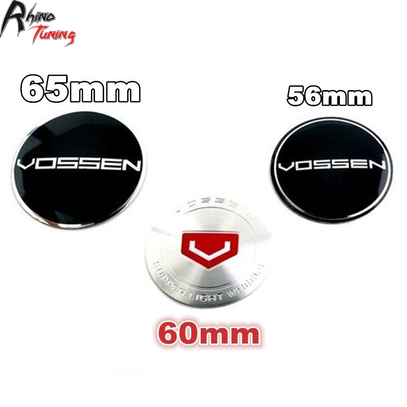Rhino Tuning 4PC 56mm 60mm 65mm Curved Vossen Car Wheel Center Badge Aluminum Sticker Badge Fit RS7 GT-R CTS-V RC-F 13533 rhino tuning 5pcs autobiography ultimate edition aluminum sticker badge emblem car auto styling fit defender range 108