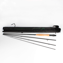 Fly Fishing Rod 3/4# 5/6# 4 Segments Sections 2.1M 2.7M Carbon Hard Light Medium Fast Action
