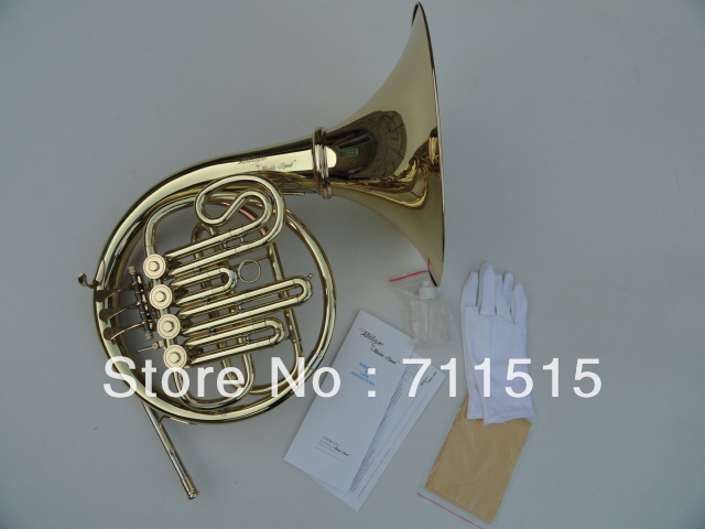 Brand NEW - Approved Single 4 - Valves French Horn Bb/A key Brass Wind Instrument with Mouthpiece and Nylon Case 8x sliver copper alloy french horn mouthpiece for conn king french horn page 1