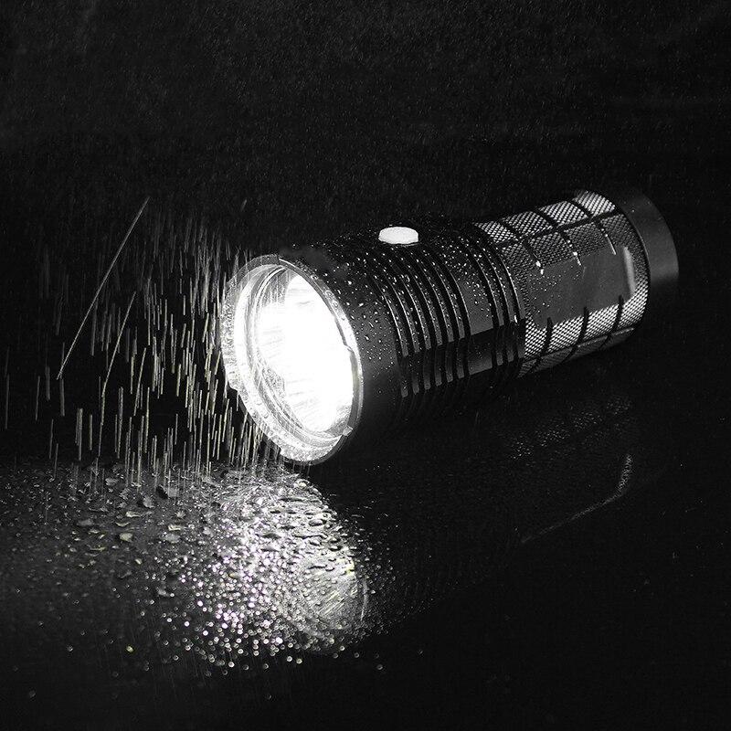 JIGUOOR Ultra Luminosa della torcia HA CONDOTTO LA Torcia Elettrica IPX 8 Impermeabile Q8 4x XP L 5000LM Professionale Più Procedura di Funzionamento 18650 - 6