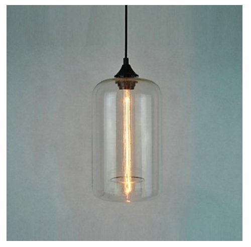 Vintage Clear Glass Mason Jar Pendant Light Max 60W With 1 Light Painted  Finish