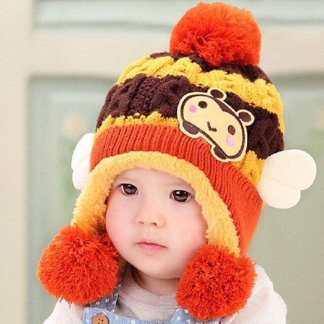 b470d833c Caps For Children Accessories Woolen Baby Girls Autumn Hat Beanie ...