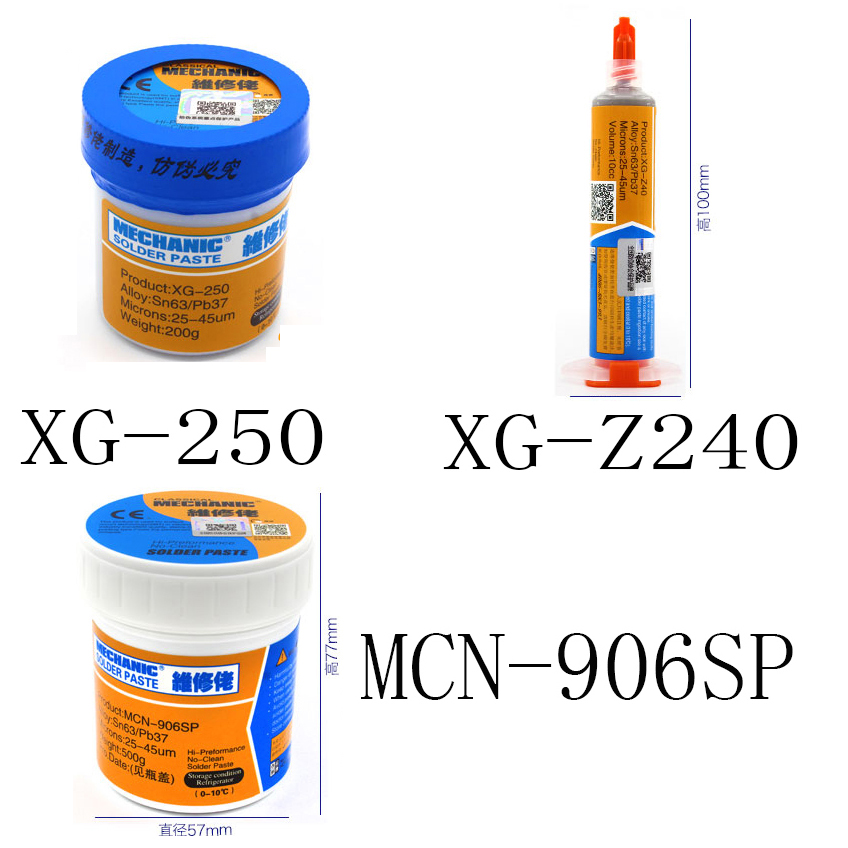 1pcs MECHANIC Solder Flux Solder Paste with Free Needle (XG-250 / XG-Z40 / 906SP ) 1pcs high quality 100% original xg z40 xg 50 xg 250 10cc mechanic solder flux solder paste