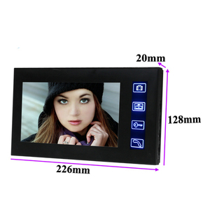 """Image 2 - 7"""" TFT 2.4G 7"""" TFT Wireless Video Door Phone Intercom Doorbell Home Security Camera Monitor color speakerphone"""