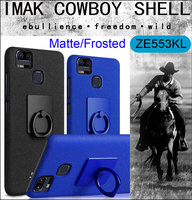 Imak Cowboy Frosted Case Cover For Asus Zenfone 3 Zoom ZE553KL Matte Shell Finger Grip Ring