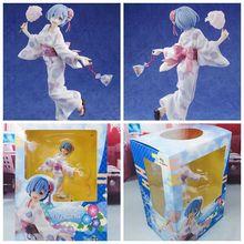 LENSPLE Anime Re Life in a different world from zero Yukata kimono Ver. Rem PVC Toys For Gift anime re life in a different world from zero rem wall scroll poster 40x60cm