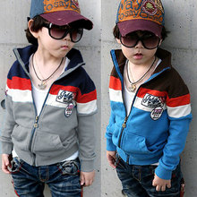 2016 Spring Autumn Color Block Decoration Male Female Children'S Clothing Baby Boy Girl Outerwear Top