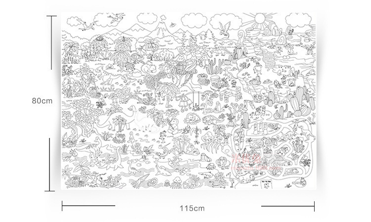 1pc 115*80cm super painter giant coloring poster drawing ...