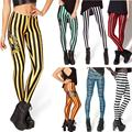 New Design Many Fashion Striped Series Printed Leggings Summer Spring Harajuku Style Creative Leggins Fitness Women Sexy Pants