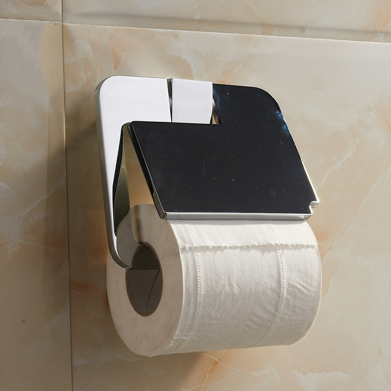 Toilet paper holder wall mounted chrome waterproof wc paper holder toilet  roll holder bathroom accessories porta papel higienico in Paper Holders  from Home  Toilet paper holder wall mounted chrome waterproof wc paper holder  . Porta Bathroom Fittings. Home Design Ideas