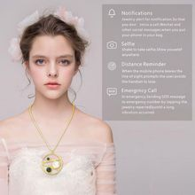 For SHAREMORE Smart Necklace Multi-functional Jewelry Women Lady Charms Magnetic Wireless Rechargeable Information Reminder