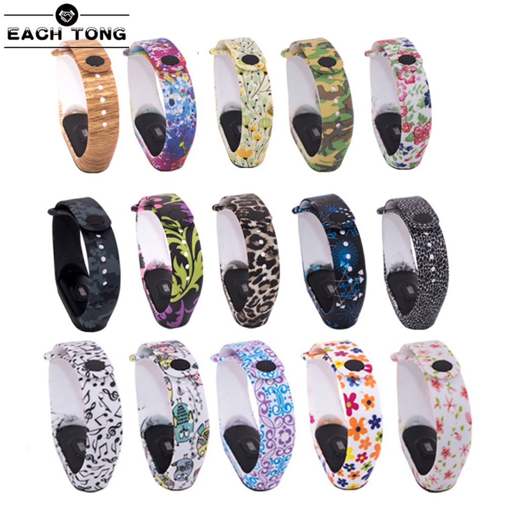 Colorful Miband 3 Strap Mi Band 3 Accessories Replacement Silicone Varied Wrist Strap For Xiaomi Mi 3 Smart Bracelets
