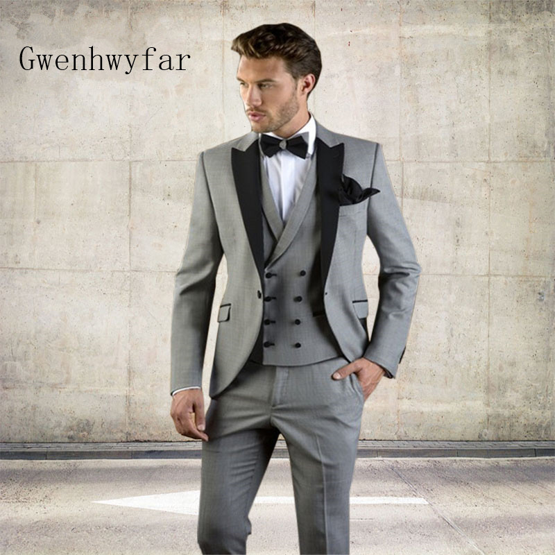 2019 Custom Made New Arrival Groom Tuxedos Vintage Prom Dinner Party Suit Singer Stage Tuxedos Groomsman Suit Mens Suit-in Suits from Men's Clothing    2