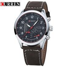 CURREN 8152 для мужчин s часы лучший бренд класса люкс для мужчин кварцевые часы водостойкий Спорт Военная Униформа часы для мужчин кожа relogio masculino