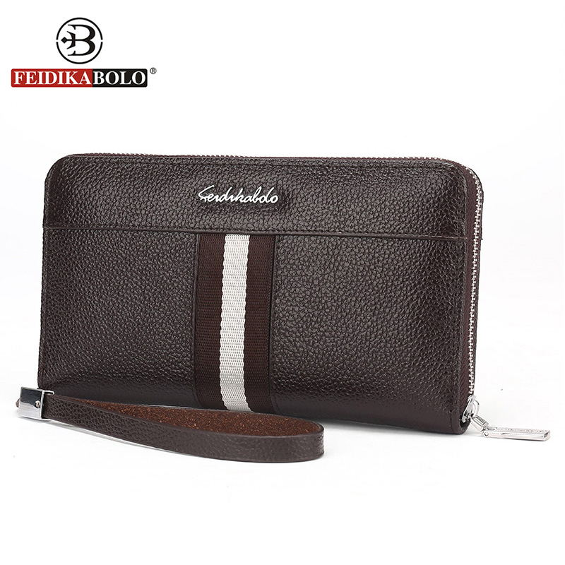 Luxury Genuine Leatehr Men Wallet Clutch Bags Purse Men Wallets Famous Brand Handy Bag Mens Wallet Leather Genuine Men's Purses 2016 famous brand new men business brown black clutch wallets bags male real leather high capacity long wallet purses handy bags