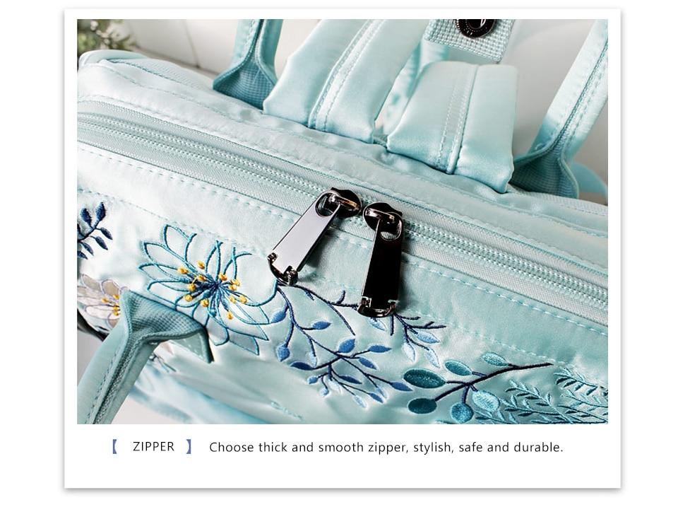 para meninas adolescentes bordado náilon mochila feminina skybagpack para mulher 2019