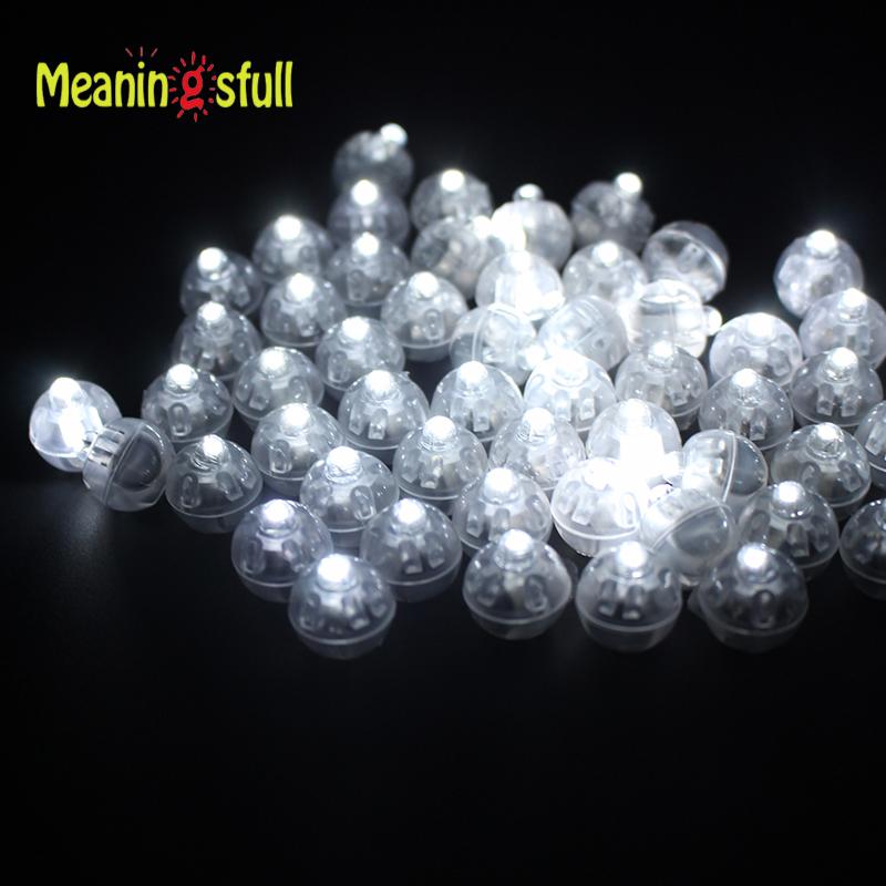 30pcslot white led balloon lights round ball lamps for paper lantern wedding christmas halloween - Halloween Lights Thriller