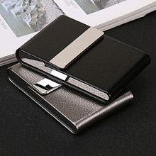 Wholesale New Business ID Credit Card Holder Fashion Id Holders Brand Metal Aluminum Case PU Leather Name