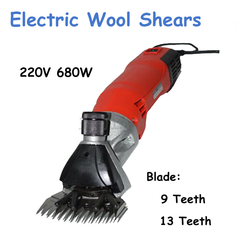 1pc 220V 680W Electric Clipper Sheep Coat Pet Sheeping Grooming Wool Shears Shearing Machine new 680w sheep wool clipper electric sheep goats shearing clipper shears 1 set 13 straight tooth blade comb