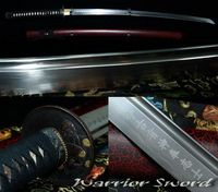 Sharp Folded Steel Japanese Samurai Sword Katana Handmade 12 process #504