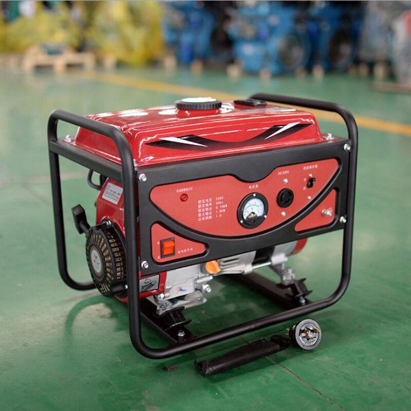Digital Generator Micro Gasoline Generator Set 1kw 220v Household Portable Gasoline Engine 1000w
