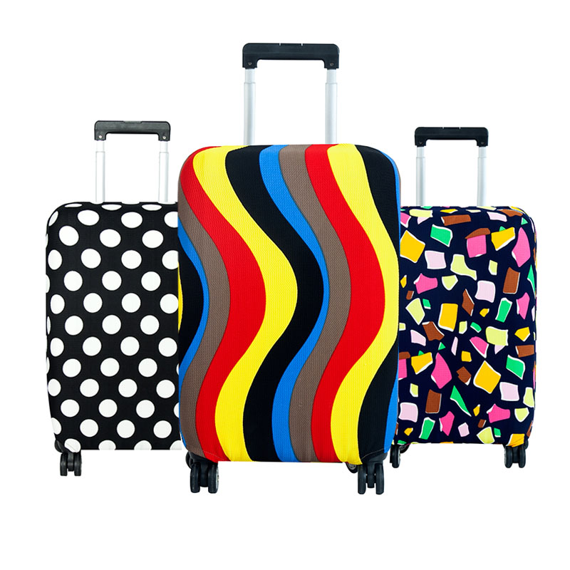 Fashion Elastic Travel Luggage Cover Protective Suitcase cover Trolley case Travel Luggage Dust cover for 18 to 28 inch travel accessories fashion striped suitcase protection cover 18 32 inch trolley dust cover suitcase protective cover