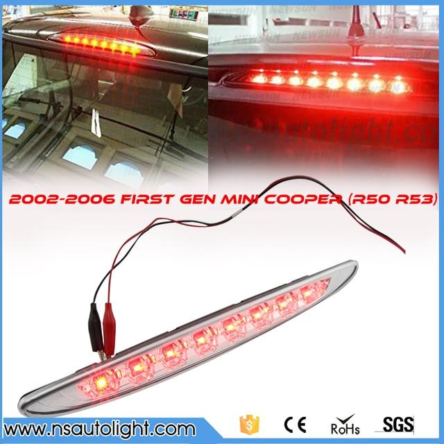 Third Brake Light For Bmw Mini R53 Clear Lens Brilliant Red 8LED High Mount  Third 3rd