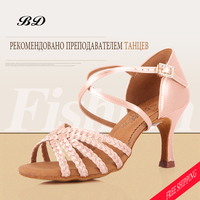WOMEN Professional Dance Shoes Sports Shoes Ladies Latin Girl SALSA Soft Bottom BD 216 Convenient Shoe Buckle FREE BAGS Cover