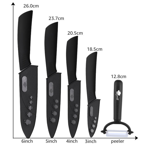 Kitchen Ceramic Knife with Black Blade