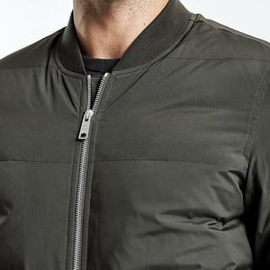 Image 2 - Simwood jaqueta de inverno dos homens ajuste fino 90% pato branco casacos moda 2019 outono parka masculino magro ajuste preto bombardeiro tamanho grande yr017004