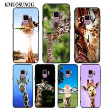 For Samsung Galaxy Note 9 8 S9 S8 Plus S7 S6 Edge S5 Mini Black Soft Silicone Phone Case Animal giraffes art Style