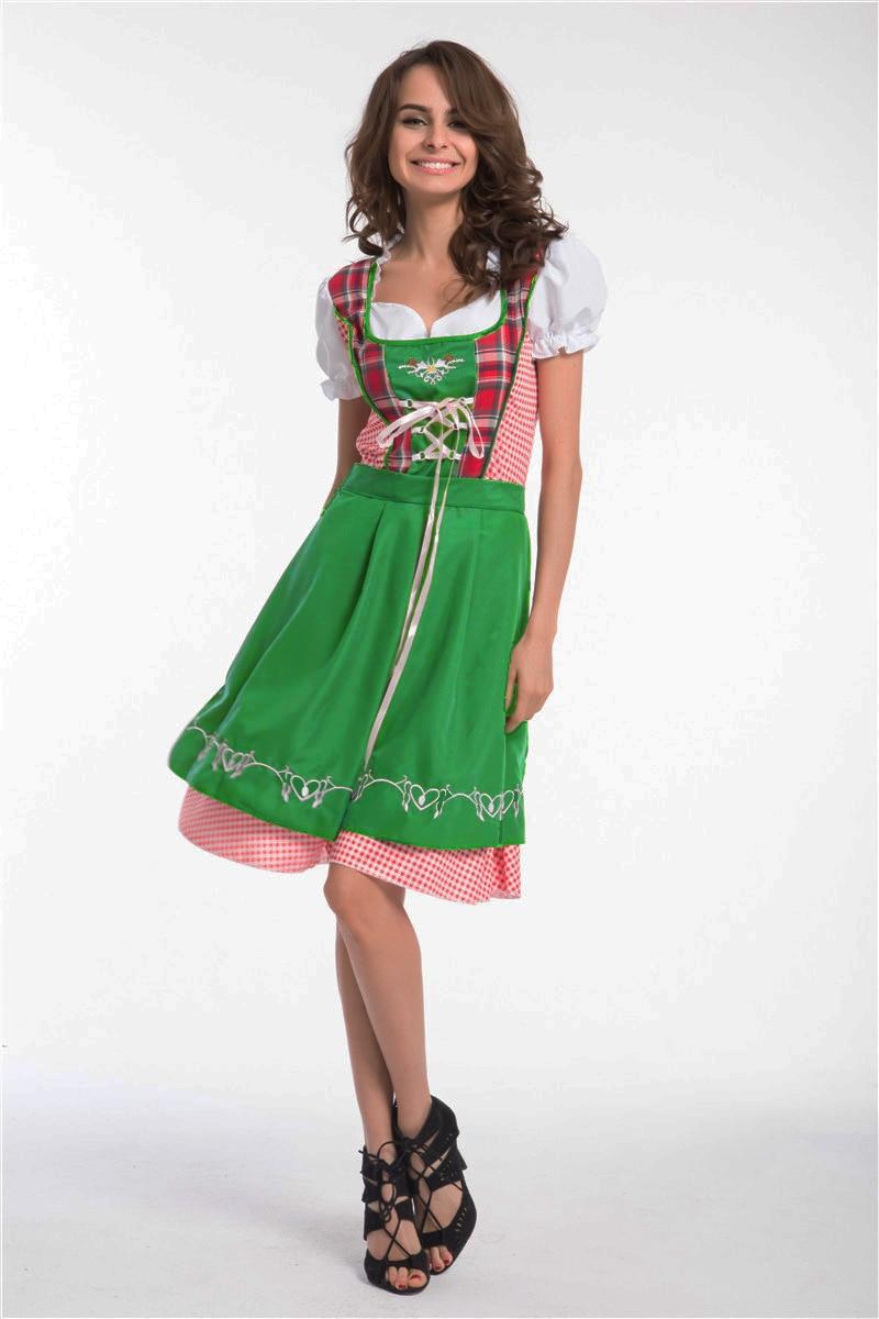 Gratis Pengiriman Beermaid Sexy Karnaval Kostum German Beer Gadis Tas Anyaman Kulit Asli Chameo Couture Opal Rantai Brown Cream Cokelat Muda Oktoberfest Gaun Pembantu Pelayan Seragam