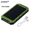 Hot Sale 8000mAh Solar Charger Phone External Battery Pack Power Bank With LED Light Lamp for iPhone 5s 6 6s 7 plus for Samsung