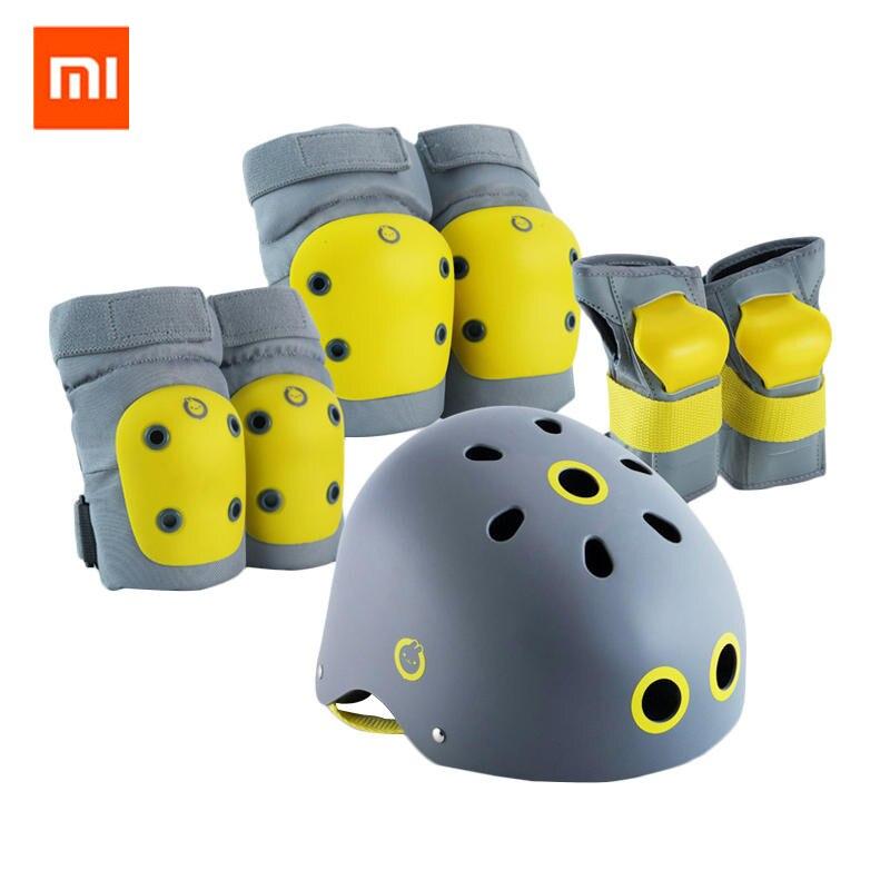 Originl Xiaomi mijia Xiaoxun Adjustable Kids Cycling Helmet Bike Sport Kneepad Elbow Knee Wrist Safety Gear цены онлайн