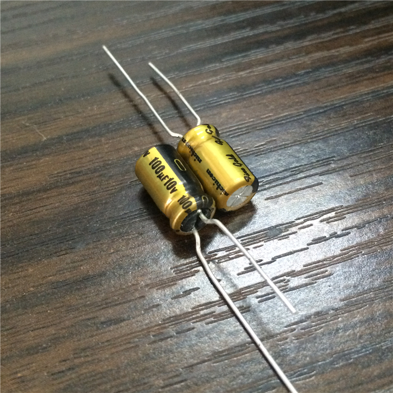 10pcs <font><b>100uF</b></font> 10V NICHICON FG Fine Gold 6.3x11mm 10V100uF Top Grade <font><b>Audio</b></font> Capacitor image