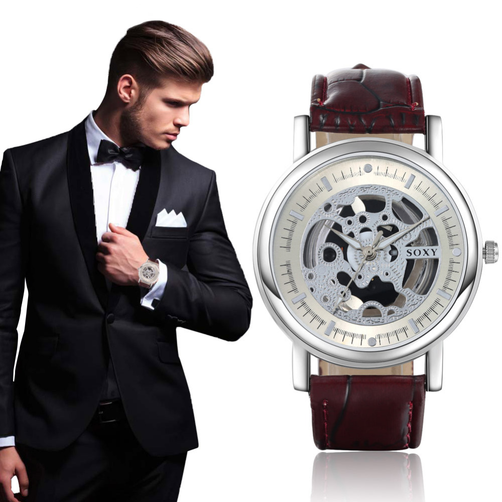 2019 New Hollow Watch SOXY Brand Quartz Watch Men Luxury Man Hot Fashion Out Skeleton Relogio Masculino Drop Ship Wristwatches