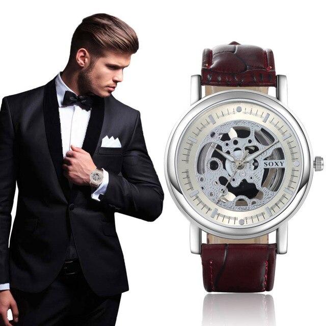 2019 New Hollow Watch SOXY Brand Quartz Watch Men Luxury Man Hot Fashion Out Ske