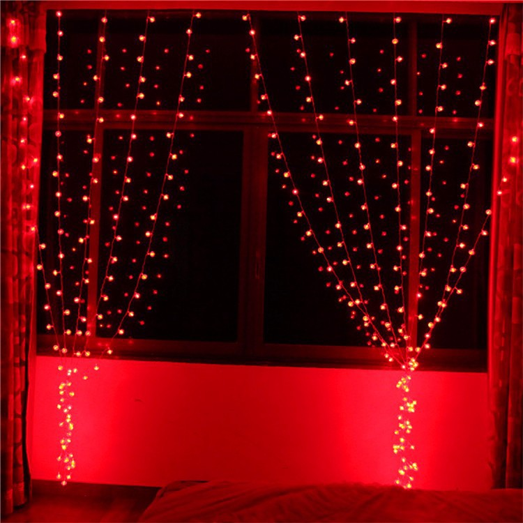 aliexpresscom buy 6 1m 256 bulbs red lantern led curtain string lights christmas lights holiday party home room decoration lamps indoor lighting from