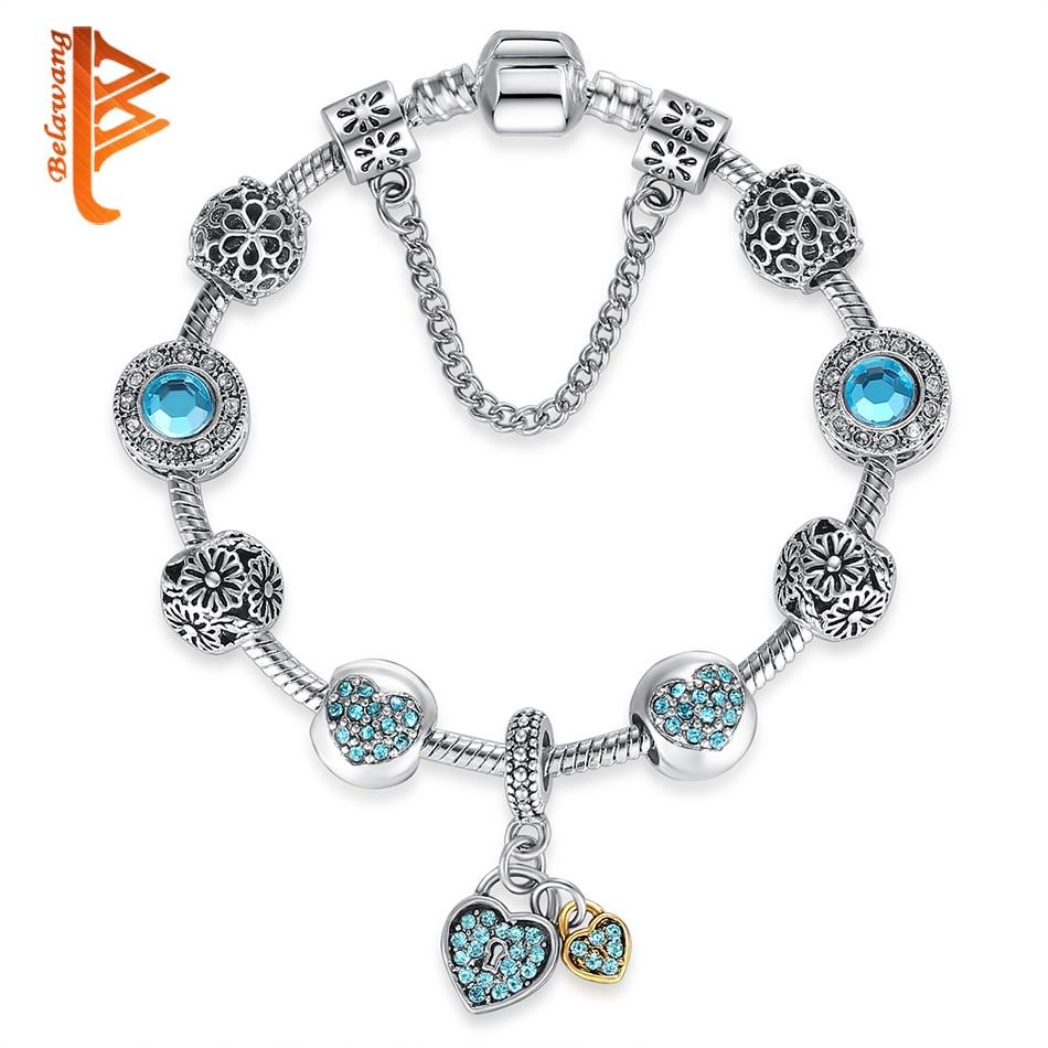 BELAWANG Autentiska Tibeten Silver 925 Uggla Crown Heart Charm - Märkessmycken - Foto 5