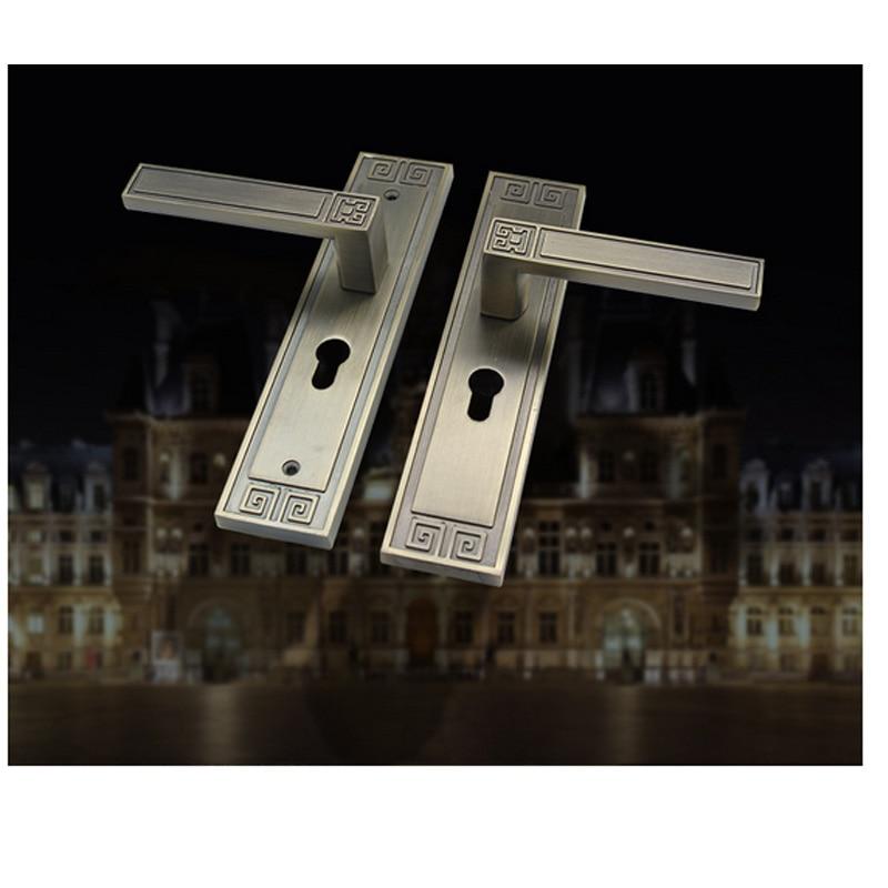 Door lock, European style door lock, bedroom door lock, aluminum alloy solid wood door lock lock, wholesale handle .