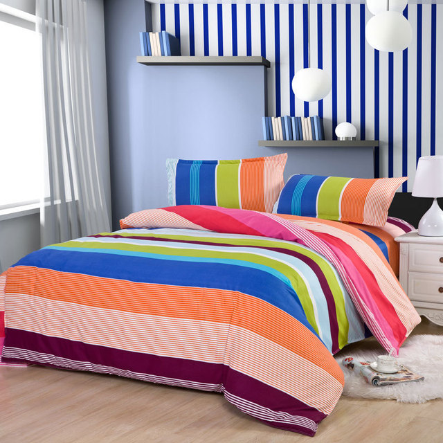 Delicieux Fashion Hot Sale! Classic Rainbow Bedding Sets Of Bed Cover Bed Sheets  Pillowcase, King