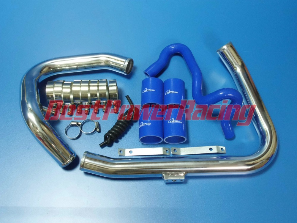 TURBO INTERCOOLER PIPING KIT FOR VOLKSWAGEN / VW / AUDI A4 B5 1.8T / 1996-2001 31x12x3 inch universal turbo fmic intercooler 3 inch piping kit toyota supra mkiii mk3 7mgte