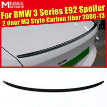 E92 Rear Spoiler Trunk Wing Tail AEM3 Style Carbon Fiber Fits For 320i 323i 325i 328i 330i 2-Door 2006-13