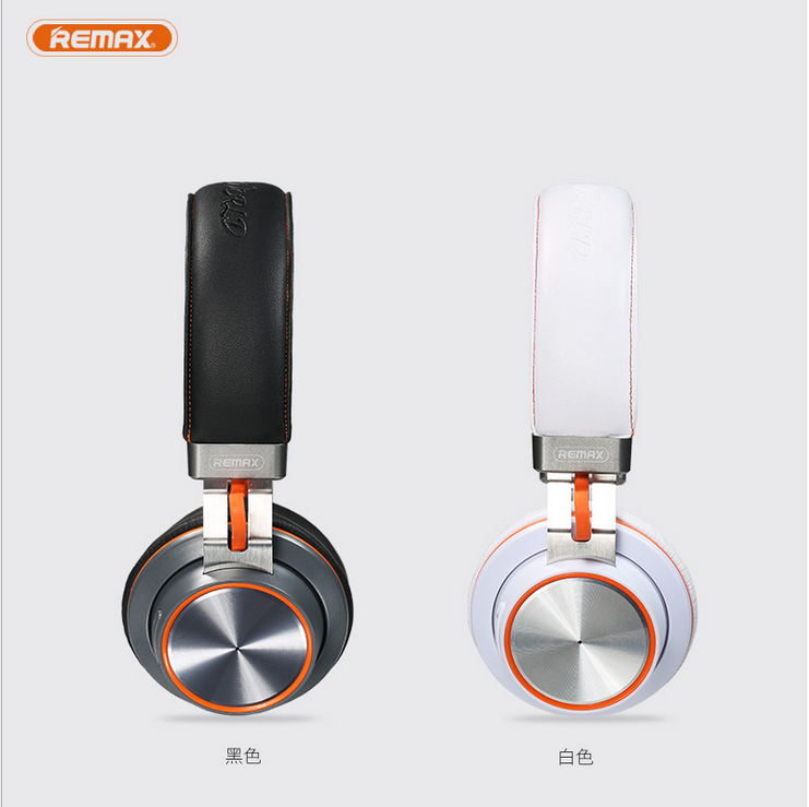 Remax Wireless Bluetooth Headphone PU Leather Bluetooth4.1 Stereo Music Earphone With Microphone Comportable Bluetooth RB-195HB remax rb s7 headphone magnetic neckband bluetooth v4 1 wireless hd stereo sports earphone music headphone with mic multi connect