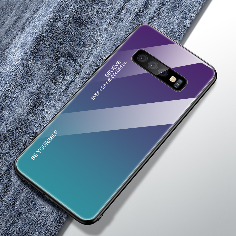 For Samsung Galaxy S10 Plus S10 Lite Case Gradient Tempered Glass Phone Cases For Samsung S10 S9 S8 Plus Note 9 Note 8 Cover     (18)