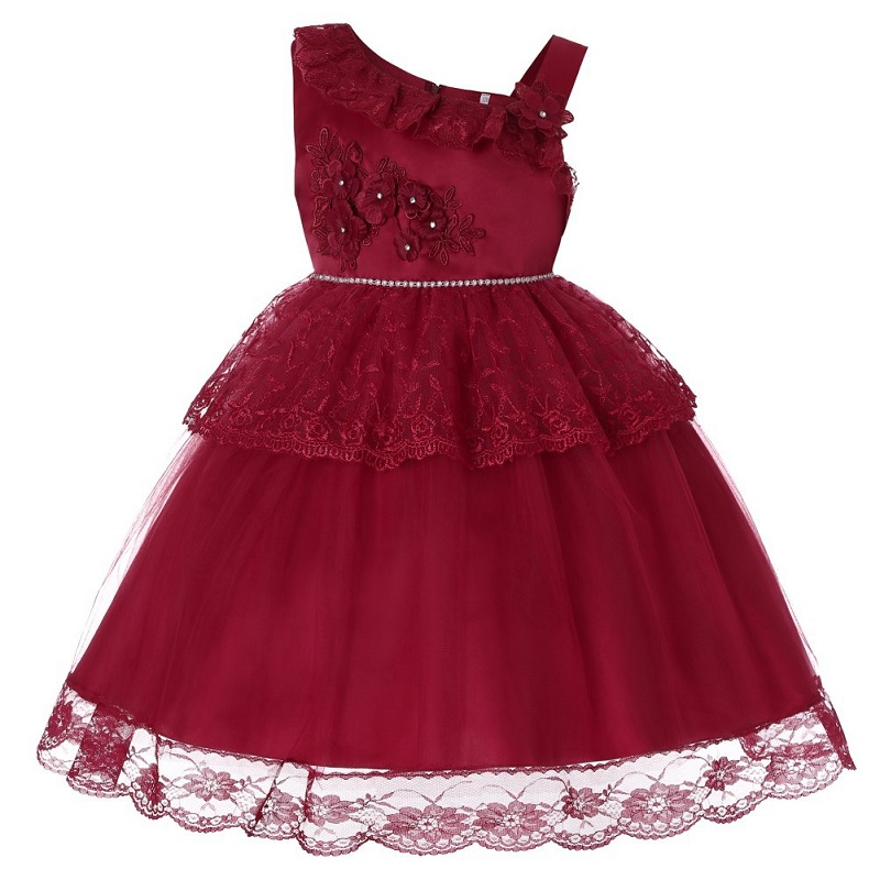 Flower Girl Dresses For Wedding Party Formal Gown For Girls Evening Prom Dresses Girl Embroidered Party Banquet Dress