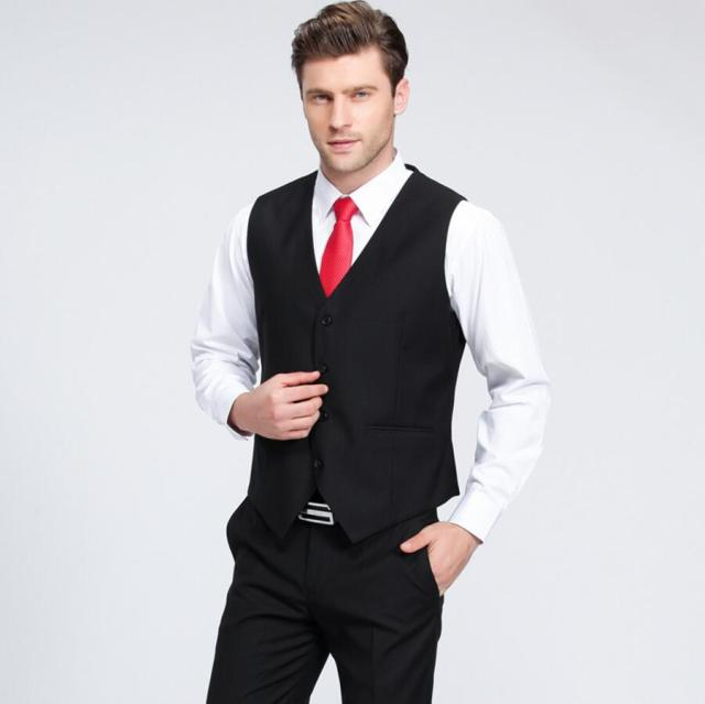 Suit ma3 jia3 British man vest fashion slim fit handsome groom ...