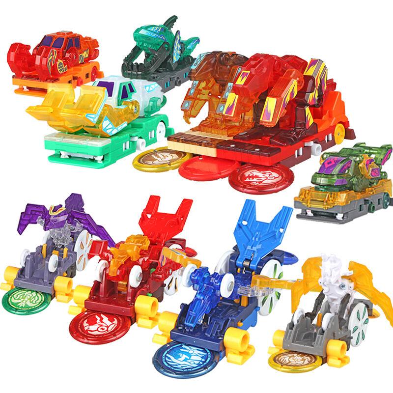 New AULDEY Screechers Wild Burst Deformation Car Action Figures Multi-car Splice Capture Wafer 360 Flip Transformation Car Toys