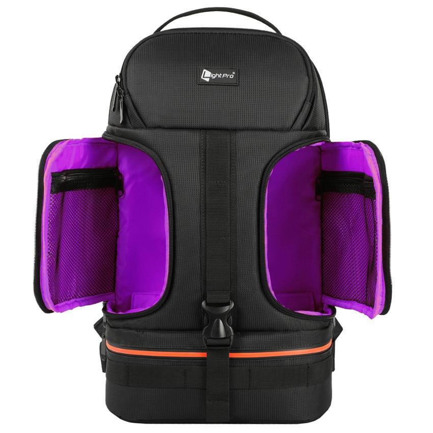 Photo Video Waterproof  Shoulders Backpack W/ Night Refelctor Line Tripod Case Fit 15.6inch Laptop For Canon Nikon Sony Camera