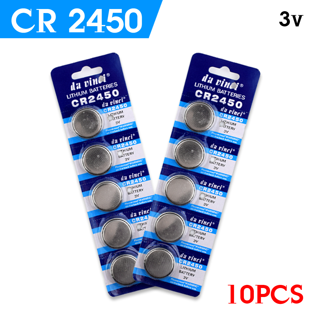 цена на YCDC Promotion + 1lot=10pcs CR2450 button cell coin battery 2450 ECR2450 KCR2450 5029LC LM2450 lithium Battery ,Cosmosnewland